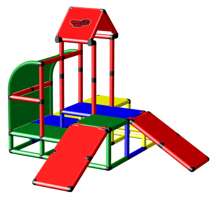 QUADROpro Climbing Pyramid with Two Baby Slides (51039)